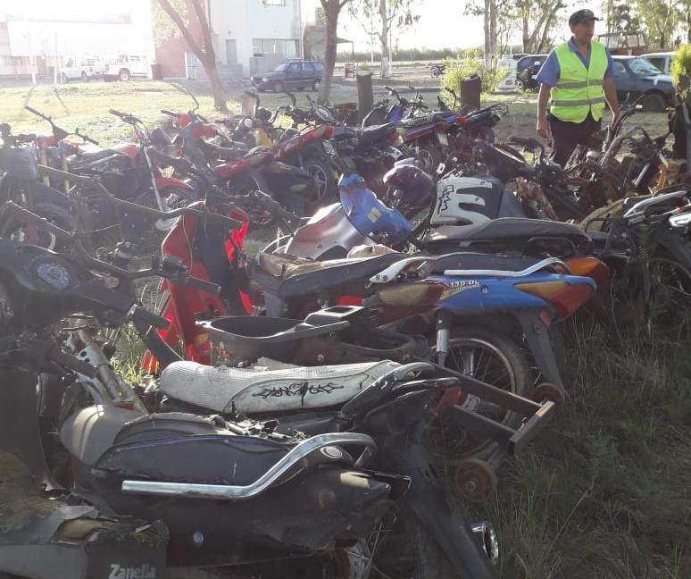 motos secuestrada puesto caminero realico