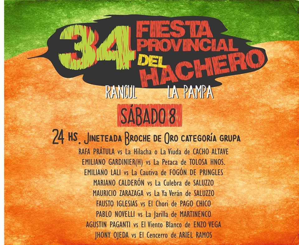FIESTA DEL HACHERO SABADO 2018