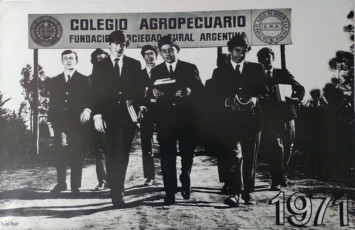 primera promoción 1971 Colegio Agropecuario