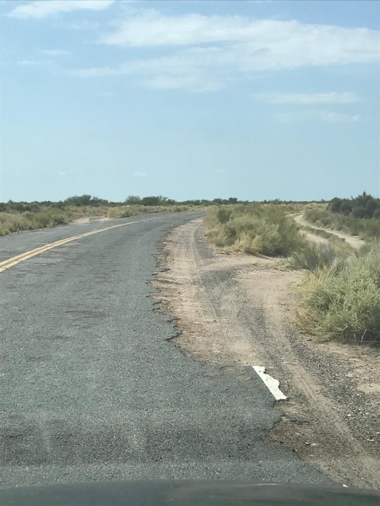 Ruta en mal estado RN 151 La Pampa