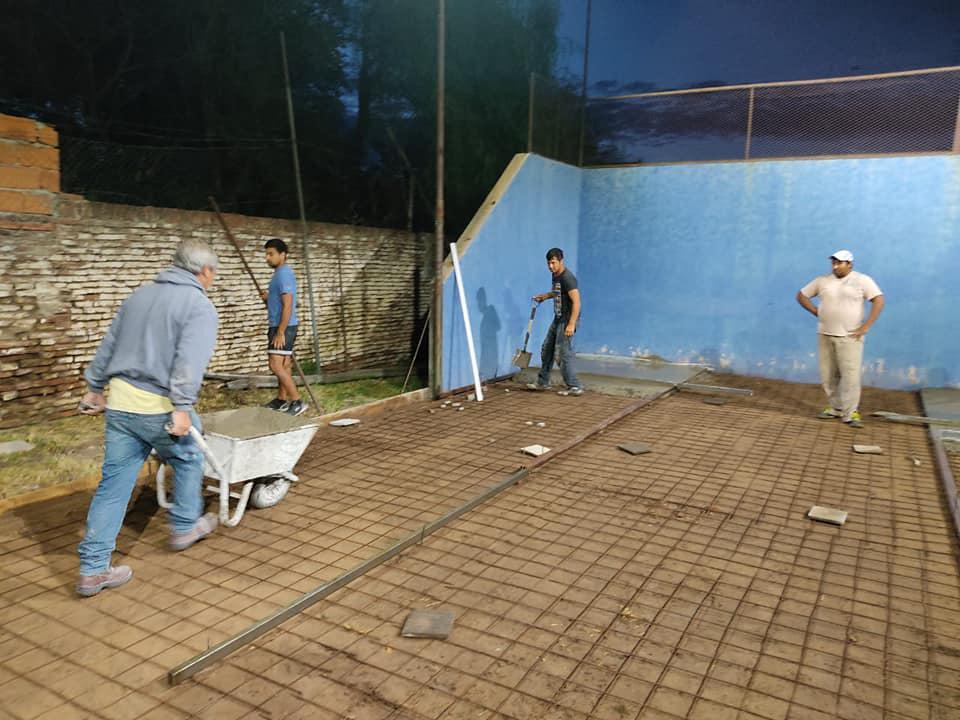 reconstrucción cancha padel sportivo parera 2