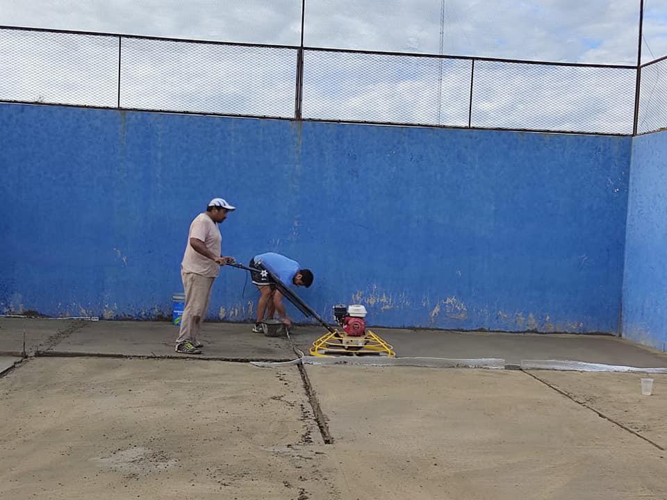reconstrucción cancha padel sportivo parera 4